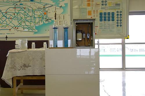 高度浄水施設:オゾン処理の実験
